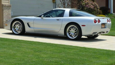 Silver Metallic Chevrolet C5 Corvette - CCW SP200 Forged Wheels