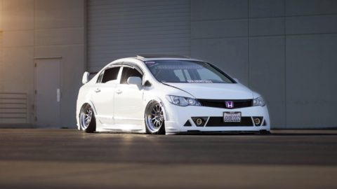 White Honda Civic FG - CCW D110 Forged Wheels - Polished Aluminum