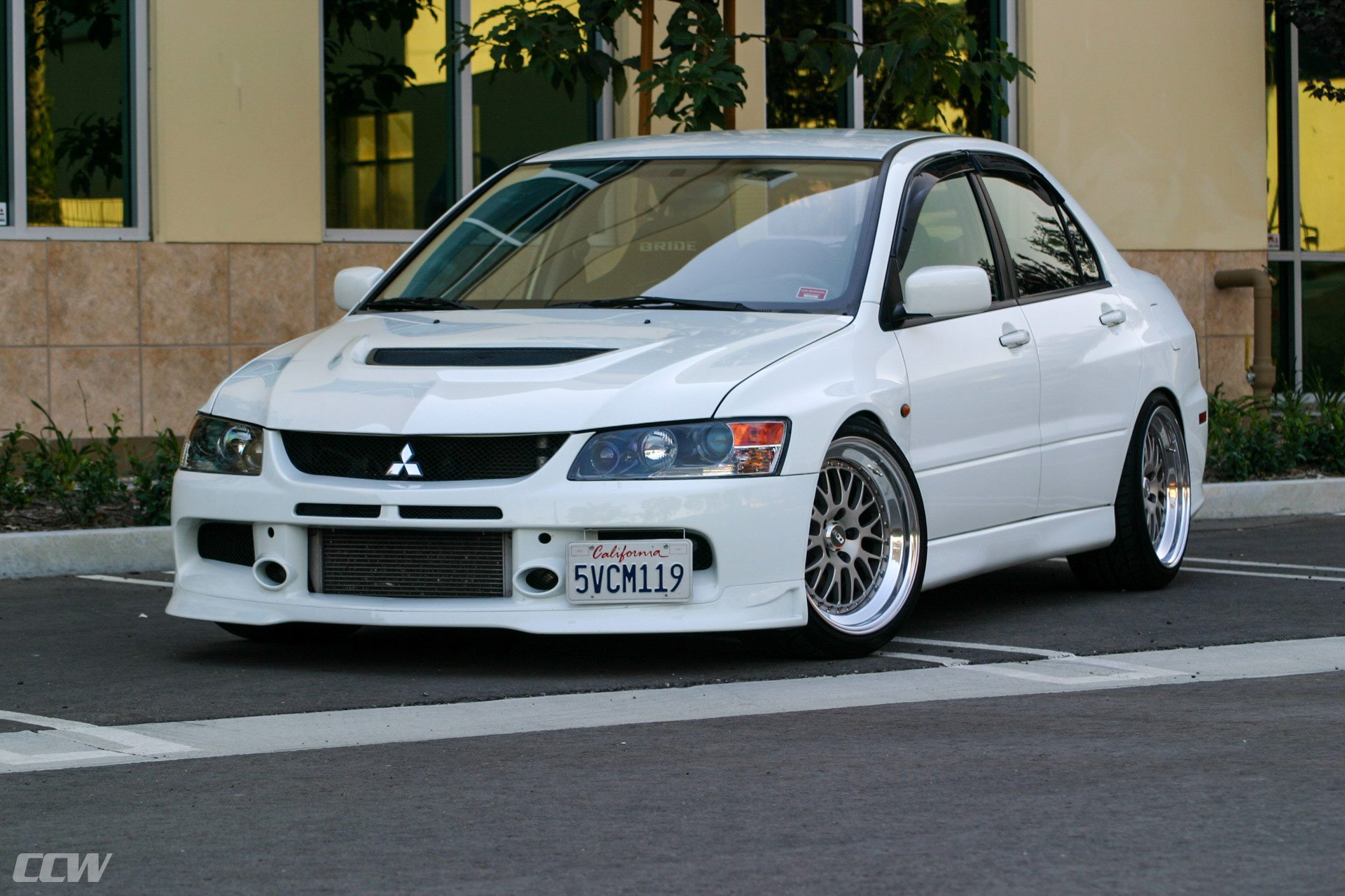 white mitsubishi evo 9 ccw classic wheels ccw wheels. Black Bedroom Furniture Sets. Home Design Ideas