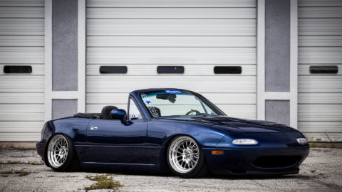 Montego Blue NA Mazda Miata MX5 – CCW LM16 2 Piece Wheels