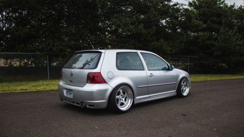 Silver Metallic VW Golf MK4 R32 - CCW LM5T Forged Wheels