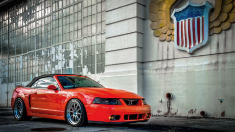 Orange Ford Mustang Cobra - CCW D540 Forged Wheels