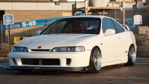 White Acura Integra - CCW LM20 Three-Piece Forged Wheels