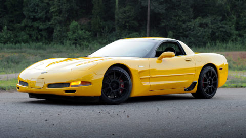 Yellow Chevrolet C5 Z06 Corvette - CCW C10 Forged Wheels - Matte Black