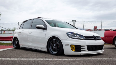 Pure White VW Golf GTI - CCW LM5T Three-Piece Wheels