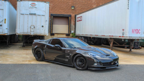 Black Corvette C6 - CCW Race Classic Three-Piece Forged Wheels