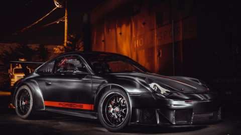 Matte Black Porsche 996 Widebody - CCW SP018 Forged Wheels