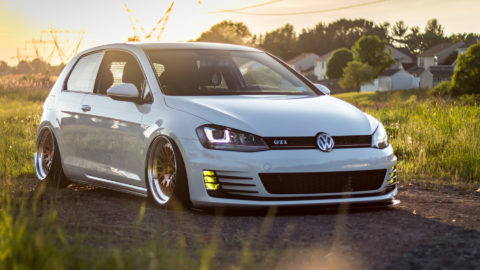 Glacier White VW MK7 Golf GTI - CCW Classic Three-Piece Forged Wheels