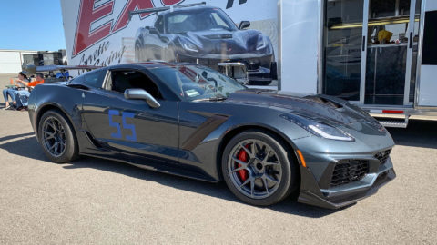 Gray Chevrolet C7 ZR1 Corvette - CCW TS5V Wheels