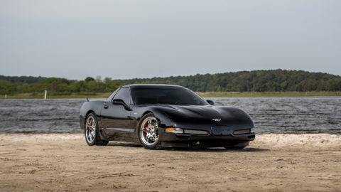 2003 Black Chevrolet C5 Z06 Corvette - CCW SP505A Wheels