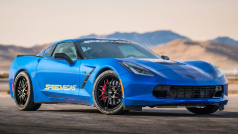 Admiral Blue C7 Corvette Stingray - CCW SP16A Wheels in Matte Black