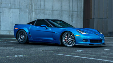 Blue Chevrolet C6 Z06 Corvette - Polished CCW Classic Beadlock Wheels with a Satin Black Ring