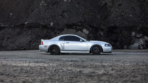 Silver Shelby Mustang Cobra - CCW Twisted Classic Wheels